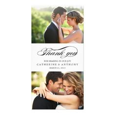 Elengant Wedding Thank You Cards Simply Elegant Wedding Thank You - White Card
