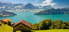 Beautiful view to Lake Lucerne (Vierwaldstattersee ) and mountain Pilatus from Rigi, Swiss Alps. Lake Lucerne Switzerland, Switzerland Tourism, Switzerland Vacation, 7 Natural Wonders, Das Hotel, Seen, Swiss Alps, By Train, Vacation Spots