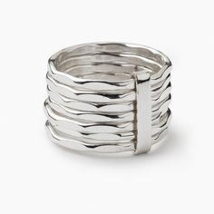 Chunky Silver Ring, very cool to wear with a few rings on one hand.