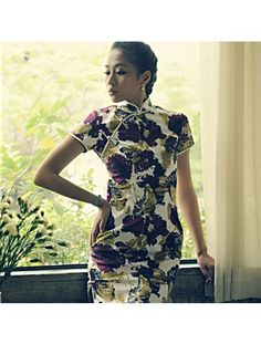 #852836 #AnnularRings #Qipao #Cheongsam -  Chinese Noble Painting Patterns Ink Dress Cheongsam for Elegant Women - chinese traditional clothes,  chinese outfit,  oriental dresses,  chinese fashion,  chinese gown,  chinese costumes,  Chinese couture,  costumes couture,  silk couture,  Chinese eveing gown,  cheongsam couture,
