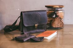 Leather crossbody bag leather bag purse by CosyGoodsLeather