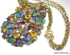 1930s Czech Art Deco Pendant with Multicolored by worn2perfection #ecochic