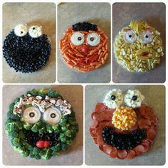 Lila Party, Elmo Party, Mickey Party, Dinosaur Party, Dinosaur Birthday, Sesame Street Snacks, Sesame Street Party, Sesame Street Birthday Party Ideas, Elmo First Birthday