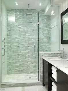 Glass Shower Tile 11 Simple Ways To Make A Small Bathroom Look Bigger  Contemporary .