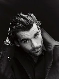 Stanley Weber by Matthew Brookes.facial hair will be the new trend for Hair And Beard Styles, Short Hair Styles, Raining Men, Good Looking Men, Facial Hair, Bearded Men, Gorgeous Men, Hello Gorgeous, Sexy Men