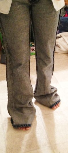 How to take in too big jeans #diy #tailoring