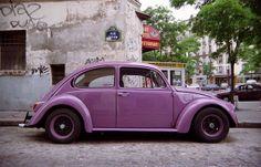 Volkswagen -- [Old PURPLE beetle car]~[Photograph by Xavier Buaillon - October 14 2010 - Salpêtrière-Austerlitz, Paris, Ile-de-France]'h4d'121106