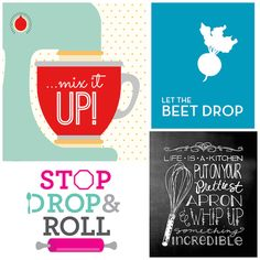 22 Free Kitchen Wall Art Printables - ready to print out and hand on your wall.