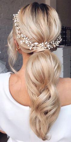 Voluminous Ponytail, Elegant Ponytail, Sleek Ponytail, Bride Hairstyles, Down Hairstyles, Wedding Ponytail Hairstyles, Beach Hairstyles, Hairdos, Headband Hairstyles