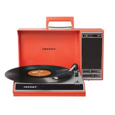 レッド|Crosley Spinnerette USBレコードプレイヤー by Crosley