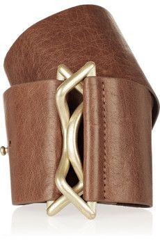 ROBERT RODRIGUEZ  Wide textured-leather belt