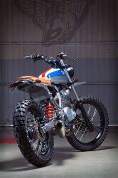 honda nx650 scrambler | kiddo motors - bikerMetric