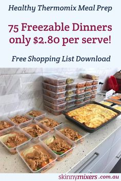 The Top 12 Thermomix Recipes to Freeze Freezable Meal Prep, Healthy Meal Prep, Healthy Recipes, Freezable Recipes, Healthy Dinners, Budget Meal Prep, Meal Prep Guide, Bulk Cooking, Cooking Recipes