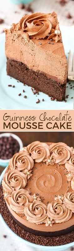 Perfect Guinness Chocolate Mousse Cake – from the cookbook Simple Beautiful Homemade Cakes! The post Guinness Chocolate Mousse Cake – from the cookbook Simple Beautiful Homemade Cak… .
