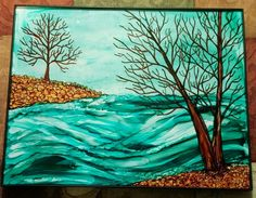 Painting done with alcohol ink and fire...look up my page on Facebook. Downeast Charm