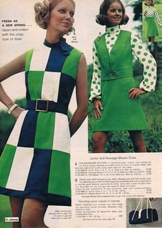 YES! Love the color blocking! polka dots not quite so much. --- Penneys catalog 1972