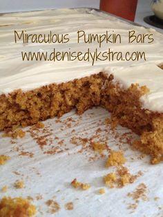 Miraculous Pumpkin Bars - Life With Four Boys