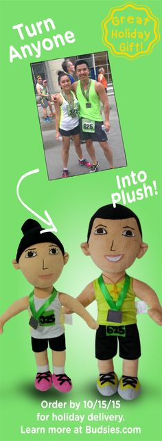 WOW! Turn your loved ones into real custom plush dolls. Super simple to order - learn more at Budsies.com