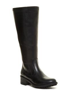 Andrea Faux Fur Lined Waterproof Boot- Wide Calf