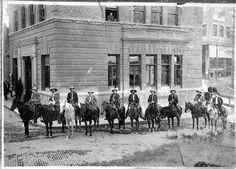 Arizona Rangers, Bisbee, Arizona (Hayden Arizona Collection Arizona State University Libraries)    Bisbee, Arizona, 1912  Copper greed, unba...