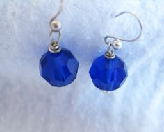 My Favorite Blue Crystal Earrings