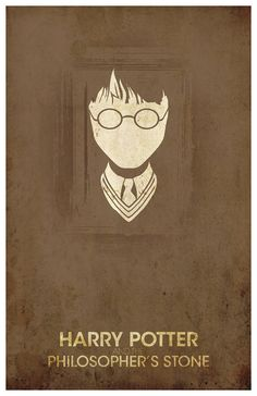 "Vintage Harry Potter Movie Poster - ""The Philosopher's Stone"" #Art #Print #Digital #Harry Potter and #Science Fiction #Movie Poster #Minimalist #Potter #Illustration #Vintage #Grunge #Textured #Lightning #Scar #Philosopher $16"