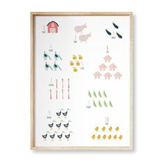 "Printable Farm Numbers / 1 to  10 digital print / farm theme numbers / digital art / kids room decor / instant download / 16""x20""/ 50x70cm #Montessori #montessoribaby #preschool #alphabet #printables #kidsroomsdecor #decoracionbebe #farmhousedesign #numbers Alphabet Wall Art, Preschool Alphabet, Alphabet Cards, Animal Alphabet, Alphabet And Numbers, Kids Room Art, Art Kids, Art Wall Kids, Digital Prints"