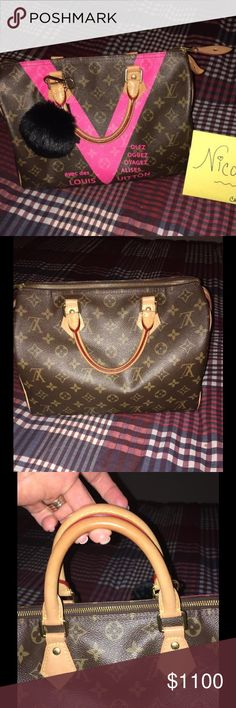 💕Louis Vuitton Speedy 30 Grenade 💕 Working on last minute private adoption funds for an upcoming adoption.....  Reasonable offers will be considered. Purchased from a respectable seller, never really used it like I thought I would. Pristine on the inside and out. Always used an organizer inside, no pens marks in interior, etc. No funky smells. Smoke free home. No wear on piping, handles show minimal to no wear.  Bags beautiful.....  Comes with dust cover. No lock (when initially purchase I…
