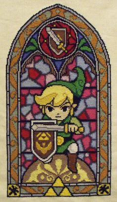 From the Sprite Stitch board! link stained glass cross stitch by trufflefunk