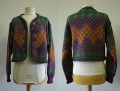 1980's YSL. Oversize Cardigan. $48.50, via Etsy.