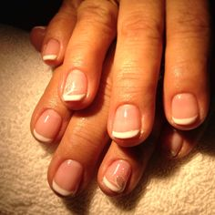 Classic French gel manicure
