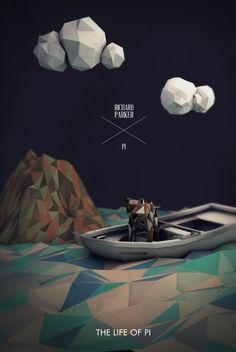 Low Poly Art  Life of Pi by Richard Parker