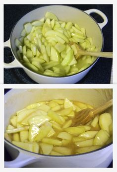 Easy recipe for the BEST homemade apple pie filling! (So much better than the goopy canned stuff.)