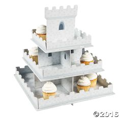 Knight's Kingdom Castle Cupcake Display