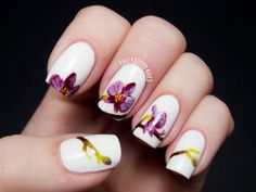 Pantone Color of the Year 2014: Radiant Orchid Nail Art | Chalkboard Nails