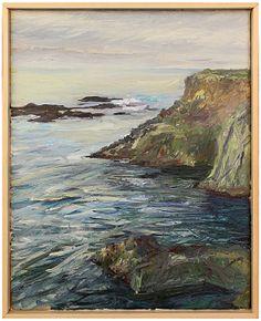 "'Mendocino Coast,' John Bucklin. Stinson Beach, Californaia, 2014. Oil on canvas, 11"" X 14""/750.00"