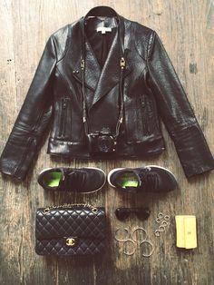 Camilla Pihl // leather jacket