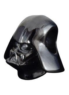 Berloque Darth Vader em prata banhada a ródio negro