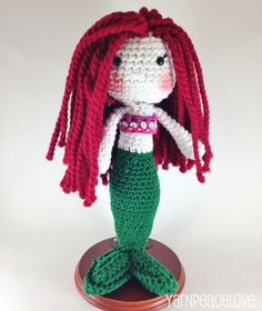 Crochet Mermaid Doll-Soft and beautiful. - pinned by pin4etsy.com