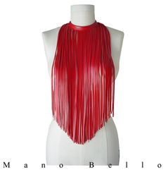 Hey, I found this really awesome Etsy listing at https://www.etsy.com/listing/206560841/leather-fringe-necklace-choker-long