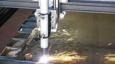 Lightning CNC 5 x 10 M4 CNC Plasma Table with Waterpan & Slats. Cutting ...