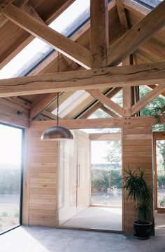 Oak frame sunroom and a utility space hidden within a Pandora's (wooden) box   Photo Aly Harte