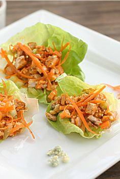 Buffalo Chicken Lettuce Wraps | The Hopeless Housewife