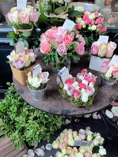 Roses at the florist shop...but what a lovely idea as well...