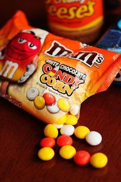 I just cannot get enough of candy corn M&Ms - wish they were available in the UK!