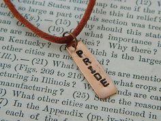 Pride necklace Inspirational necklace affirmation copper necklace