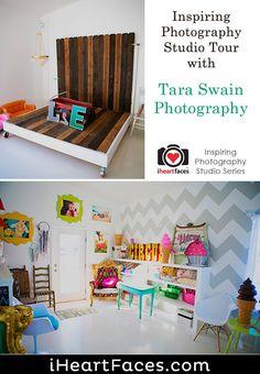 Tour Tara Swain's Colorful Photography Studio (I Heart Faces) Garage Photography Studio, Studio Portrait Photography, Face Photography, Studio Portraits, Creative Photography, Photo Studio, Newborn Photography, Photography Studios, Inspiring Photography