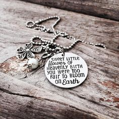 Your place to buy and sell all things handmade Angel Baby Memorial, Baby Memories, Metal Stamping, Processing Time, Grief, Dog Tag Necklace, Menu, Buy And Sell