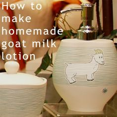 Goat milk lotion recipe  I wonder if this can be made with Mare milk?