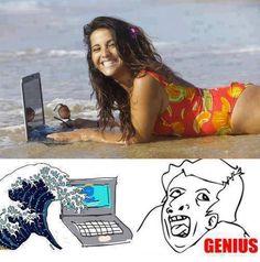 #humor Vaya Face!: Morenas con alma de rubias...no, mejor no cuelgues la foto en Facebook, anda!
